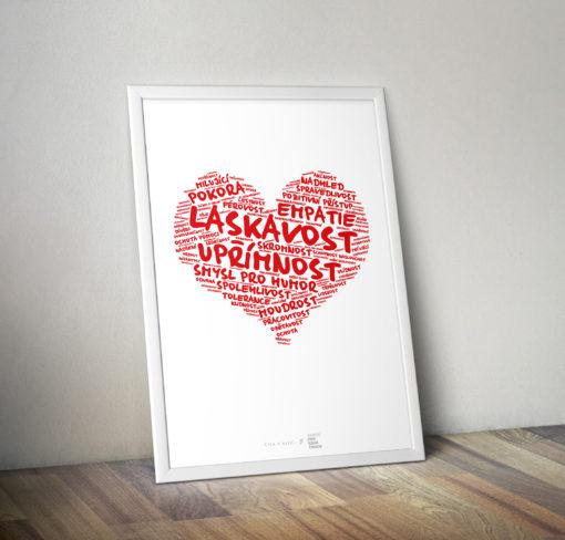 Číča v kleci | Plakát | Konec prokrastinace - Pozitivní Srdce | Petr Ludwing | Upřímnost | Laskavost | Plakát | Lepší Senior