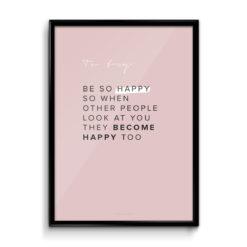BE SO HAPPY | ČÍČA V KLECI PLAKÁT
