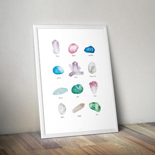 Plakát Číča v kleci Minerály