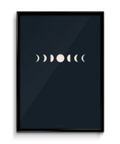 Číča v kleci plakát obraz originál fáze měsíce