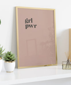 Číča v kleci plakát obraz originál GRL PWR