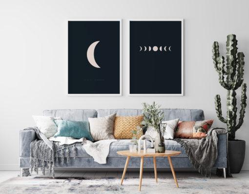 Číča v kleci plakát obraz originál i am the sun i am the moon